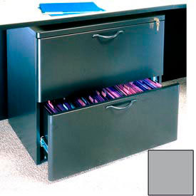 """Ironwood Lateral File Cabinet - 29-5/8""""W x 19-3/4""""D x 26-3/4""""H Gray  - 3000 Series"""