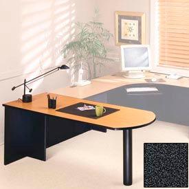 "Ironwood Freestanding Peninsula - 72""W x 30""D x 28-3/8""H Black Granite  - 3000 Series"
