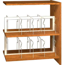 "42"" Picture Book Shelving Adder - 36""W x 23-7/8""D x 40-7/8""H Dixie Oak"