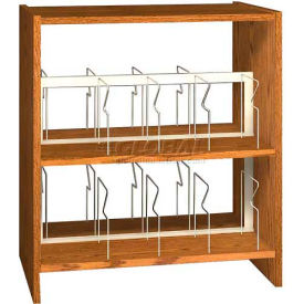 """42"""" Picture Book Shelving Base - 37""""W x 23-7/8""""D x 40-7/8""""H Amber Ash"""