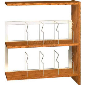 "42"" Picture Book Shelving Adder - 36""W x 12-1/2""D x 40-7/8""H Dixie Oak"