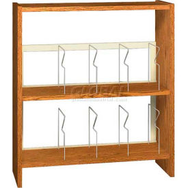 """42"""" Picture Book Shelving Base - 37""""W x 12-1/2""""D x 40-7/8""""H Amber Ash"""