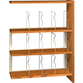 """48"""" Picture Book Shelving Adder - 36""""W x 12-1/2""""D x 47-1/4""""H Amber Ash"""