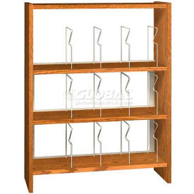 """48"""" Picture Book Shelving Base - 37""""W x 12-1/2""""D x 47-1/4""""H Amber Ash"""