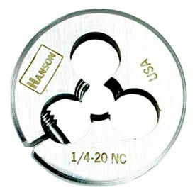 """5/16""""-18 Irwin&174; Hanson&174; Carbon Steel Round Split Die, Solid, 1"""" OD - Pkg Qty 5"""