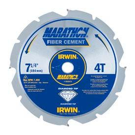 "Marathon PCD Fiber Cement Blade-7-1/4"" x 4T Polycrystalline Diamond, 5/8"" Arbor"