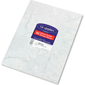 """Geographics® Design Paper 39017, 8-1/2"""" x 11"""", Marble Gray, 100/Pack"""