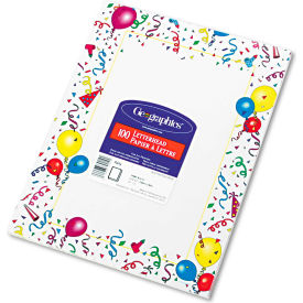 """Geographics® Design Paper 39219, 8-1/2"""" x 11"""", Party, 100/Pack"""