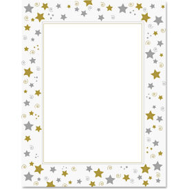 """Geographics® Design Paper 47103, 8-1/2"""" x 11"""", Stars and Swirls, 40 Sheets/Pack"""