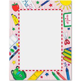 "Geographics® Grade School Design Paper 81365, 8-1/2"" x 11"", White/Grade School, 100/Pack"