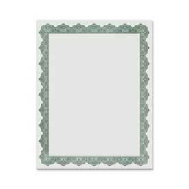 """Geographics Blank Award Certificate, Golden Seal, 25"""" x 8-1/2"""", Green, 25/Pack by"""