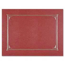 """Geographics® Linen Certificate Cover, 12-1/2"""" x 9-3/4"""", Burgundy, 6/Pack"""