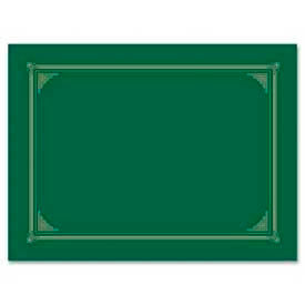 """Geographics Award Certificate Document Cover, 12-1/2"""" x 9-3/4"""", Green, 6/Pack by"""