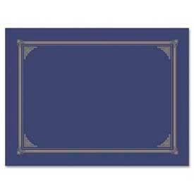 """Geographics Award Certificate Document Cover, 12-1/2"""" x 9-3/4"""", Metallic Blue, 6/Pack by"""