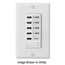 Intermatic EI220 Electronic Auto-Off Timer 1/2/4/8 Hour With HOLD, Ivory