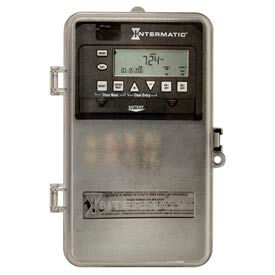 Intermatic ET1105CPD82 24-Hour 30 Amp SPST Elec Timeswitch - Clock Voltage, 120-277V NEMA 3R Plastic