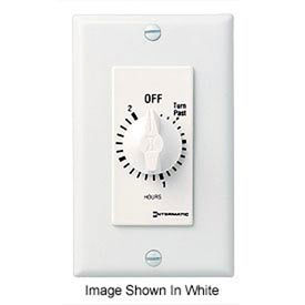 Intermatic FD2H 2 Hour 125-277V SPST Decorator Series Spring Wound Timer, Ivory