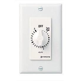 Intermatic FD2HW 2 Hour 125-277V SPST Decorator Series Spring Wound Timer, White