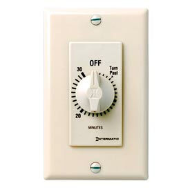 Intermatic FD30MAC 30 Minute 125-277V SPST Decorator Series Spring Wound Timer, Almond