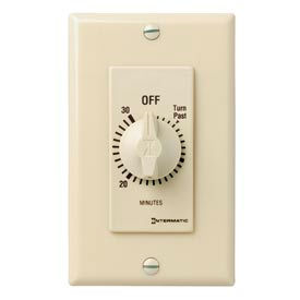 Intermatic FD30MC 30 Minute 125-277V SPST Decorator Series Spring Wound Timer, Ivory