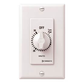 Intermatic FD30MHW 30 Minute 125-277V SPST Decorator Series Timer w/Hold For Continuous Duty, White