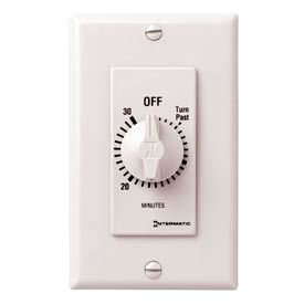 Intermatic FD30MWC 30 Minute 125-277V SPST Decorator Series Spring Wound Timer, White