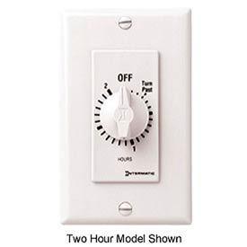 Intermatic FD34HW 4 Hour 125-277V SPDT Decorator Series Spring Wound Timer, White