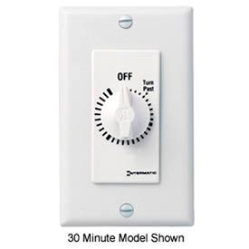 Intermatic FD460MW 60 Minute 125-277V DPST Decorator Series Spring Wound Timer, White