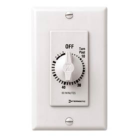 Intermatic FD60MHW 60 Minute 125-277V SPST Decorator Series Timer w/Hold For Continuous Duty, White