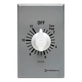Intermatic FF12HC 12 Hour 125-277V SPST Commercial Series Spring Wound Timer