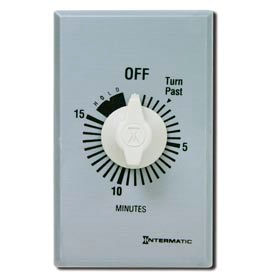Intermatic FF15MH 15 Minute 125-277V SPST Commercial Series Timer w/Hold For Continuous Duty