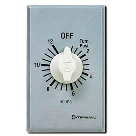 Intermatic FF412H 12 Hour 125-277V DPST Commercial Series Spring Wound Timer