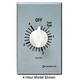 Intermatic FF46H 6 Hour 125-277V DPST Commercial Series Spring Wound Timer