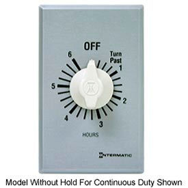 Intermatic FF6HH 6 Hour 125-277 V SPST Commercial Series Timer w/ Hold For Continuous Duty