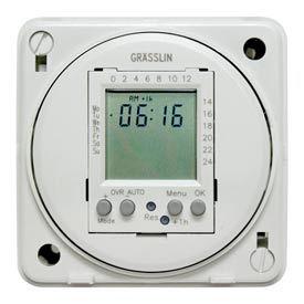 Intermatic FM1D20E-120 Electronic 24-Hour/7-Day Timer Module, Flush Mount, 15A, 120V, 50/60Hz