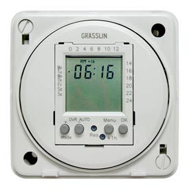 Intermatic FM1D20E-240 Electronic 24-Hour/7-Day Timer Module, Flush Mount, 15A, 240V, 50/60Hz
