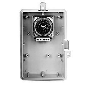 Intermatic GMXST-O-24 24-Hour, 21A SPDT ElectromechTimer, NEMA 3R Outdoor Plastic Enclosure 24V 60Hz
