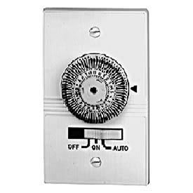 Intermatic KM2ST-2D 24-Hour, Electromechanical In-Wall Timer, 20A, 120V, White, 2 Gang Decorator
