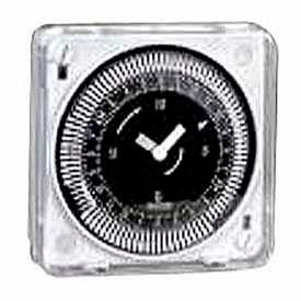 Intermatic MIL72ESTUZ-24 24-Hr, Electromech Timer, Flush Mount, w/o Battery Backup, 24V