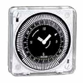Intermatic MIL72ESTUZH-240 24-Hr, Electromech Timer, Flush Mount, Manual Override, w/o Battery, 240V