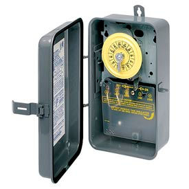 Intermatic T101R 24 Hour Dial Mechanical Time Switch, NEMA 3R Case, 125V, SPST