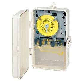 Intermatic T103PCD82 NEMA 3R - 24 Hour Dial Mechanical Time Switch In See-Thru Cover,125V, DPST