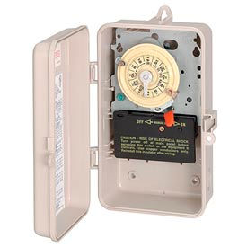 Intermatic T104P3 NEMA 3R - Time Switch In Plastic Enclosure, 208-277V, DPST, Beige Case