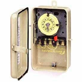 Intermatic T104R3 NEMA 3R - Time Switch In Metal Enclosure, 208-277V, DPST, Beige Case