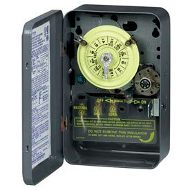 Intermatic T1475BR NEMA3R-24 Hr Dial Mech.Time Switch W/Skipper And Optional Carryover, 480V, 4PST