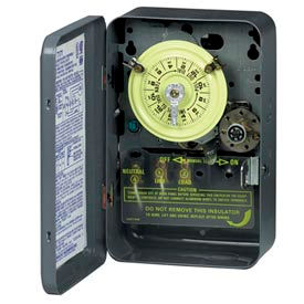 Intermatic T174CR NEMA3R-24 Hr.Time Switch W/Skipper And Carryover, Steel Case, 208-277V, DPST