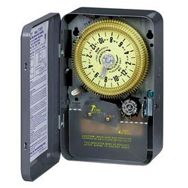 Intermatic T1976 NEMA 1 - 24 Hour Dial Time Switch W/Skipper, 208-277V, SPDT