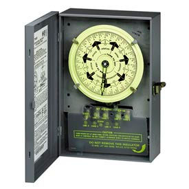 Intermatic T7402B NEMA1-7 Day Time Switch, Separate Clock Motor And Circuit Terminals, 208-277V