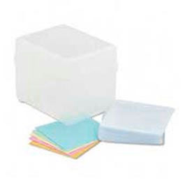 Polypropylene CD/DVD Storage Box, Stores up to 100 CDs/DVDs, Clear