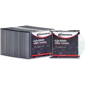 Thin Line Polystyrene CD/DVD Storage Cases, Clear, 25 per Pack